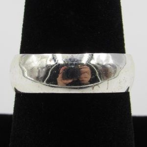 Vintage Size 8.75 Sterling Silver Rustic Wide Band
